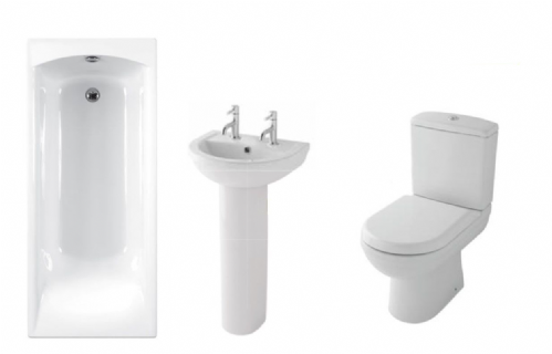 Eastbrook Dura Bathroom Suite Inc Carron Delta Bath & Panel - Various Sizes